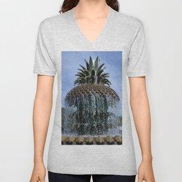 Pineapple Fountain Unisex V-Neck