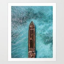 Shipwrecked IV Art Print