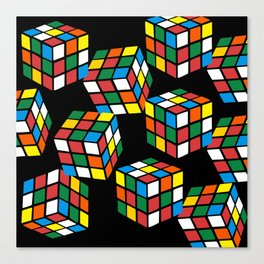 rubik cube pattern Canvas Print
