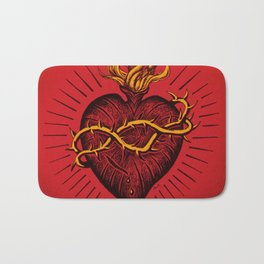 Bleeding Heart Bath Mat