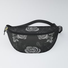 roses need thorns vector art black Fanny Pack