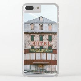 Hotel Belvedere, Switzerland Clear iPhone Case