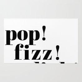 pop! fizz! clink! Rug