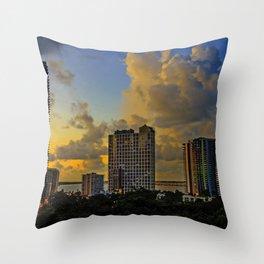 Good Moring Miami Throw Pillow