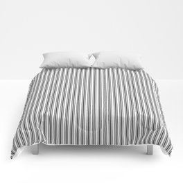 Trendy French Black and White Mattress Ticking Double Stripes Comforters