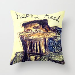 Heavy Head Throw Pillow