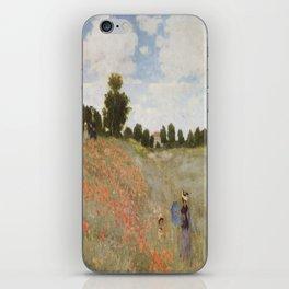 Claude Monet's Coquelicots: La Promenade iPhone Skin