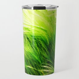 Green Swaying Grass in Summer Breeze Travel Mug