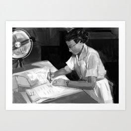 Women in Science, Hidden Figure: Katherine Johnson Art Print