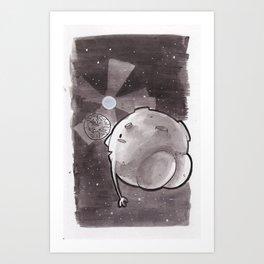 Moon - Inktober/Drawlloween 2015 Art Print
