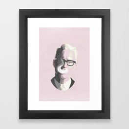 Roger Sterling   Mad Men Portrait Framed Art Print