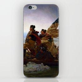 Washington Crossing the Delaware by Emanuel Leutze (1851) iPhone Skin