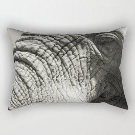 Old Elephant Rectangular Pillow