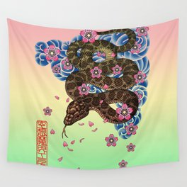 tattoo snake  Wall Tapestry
