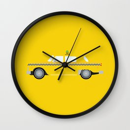 New York Yellow Taxi Wall Clock