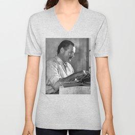 Ernest Hemingway Unisex V-Neck