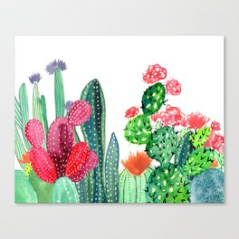 A Prickly Bunch 4 Canvas Print
