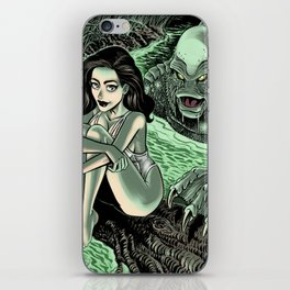 Julia Adams and the Creature from the Black Lagoon iPhone Skin