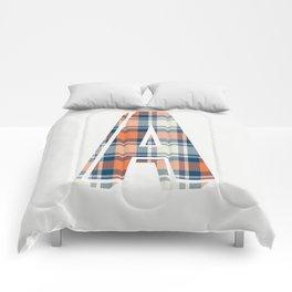 Plaid Initial Comforters