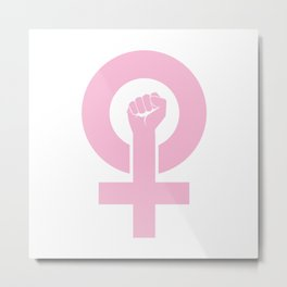 Women's Symbol-Resist Metal Print