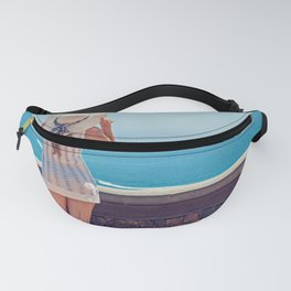 Summer Holiday Vibes / Woman & Ocean Fanny Pack