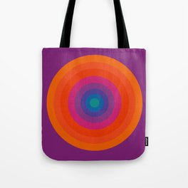 Retro Bullseye Pattern Tote Bag