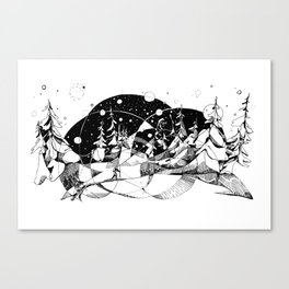 Headlamp Hustle Canvas Print