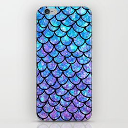 Purples & Blues Mermaid scales iPhone Skin