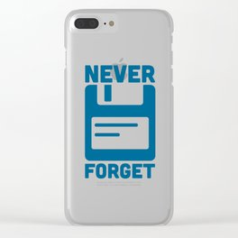 Never Forget Floppy Disk Clear iPhone Case