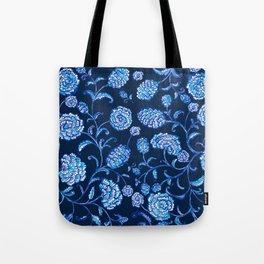 Blue & White Florals by Fanitsa Petrou Tote Bag