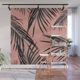 Black Palm Leaves Dream #5 #tropical #decor #art #society6 Wall Mural