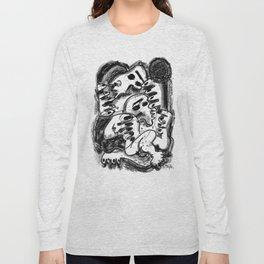 Break Apart - b&w Long Sleeve T-shirt