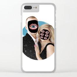 Mr. Mars & Mrs. Venus Clear iPhone Case