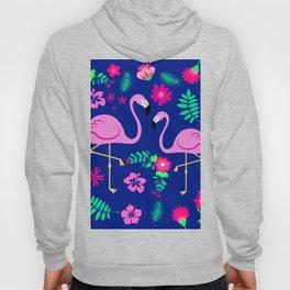 flamingo patterns Hoody