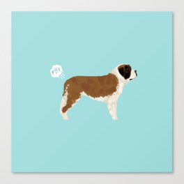 saint bernard funny farting dog breed pure breed pet gifts Canvas Print