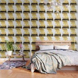 BERLIN GERMANY SILHOUETTE SKYLINE MAP ART Wallpaper