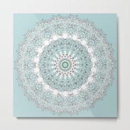 Mandala - Boho - Sacred Geometry - Pastels - Metal Print