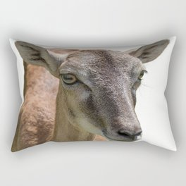 deer on white background Rectangular Pillow