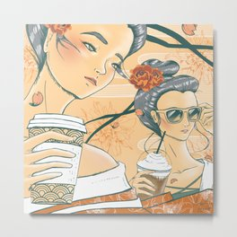 Those Who Coffee Metal Print