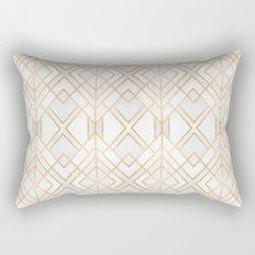 Golden Geo Rectangular Pillow