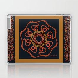 Hope Mandala with Border - Brown Black Laptop & iPad Skin