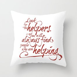 Rogers' Army -Red Throw Pillow