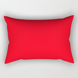 Solid Carmine Red Rectangular Pillow