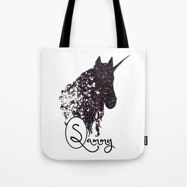 Personalized Unicorn Initial Monogram Tote Bag Tote Bag