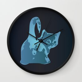 Cat Blues Wall Clock