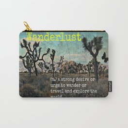 Wanderlust In The Wild Travel Quote Carry-All Pouch