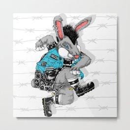 Skankin' Bunny Metal Print