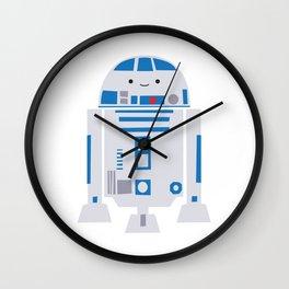 Itty Bitty R2D2 -- droid kawaii nursery art print Wall Clock