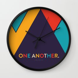 One Another Scripture Poster (Galatians 12) Wall Clock