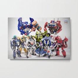 The Autobot Crew Metal Print